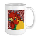 Bright Rooster Large Mug