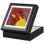 Bright Rooster Keepsake Box