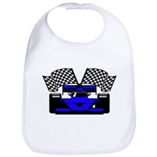 ROYAL BLUE RACE CAR Bib