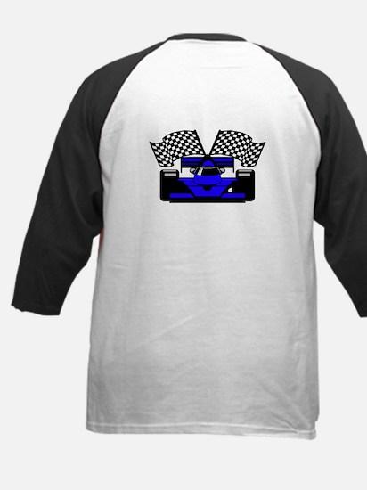 ROYAL BLUE RACE CAR Kids Baseball Jersey