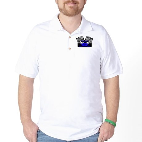 ROYAL BLUE RACE CAR Golf Shirt