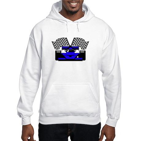 ROYAL BLUE RACE CAR Hooded Sweatshirt