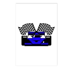 ROYAL BLUE RACE CAR Postcards (Package of 8)