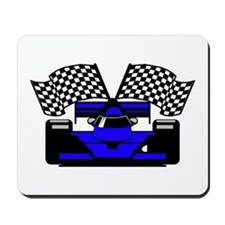 ROYAL BLUE RACE CAR Mousepad