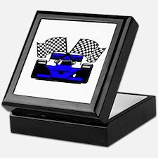 ROYAL BLUE RACE CAR Keepsake Box