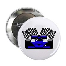 "ROYAL BLUE RACE CAR 2.25"" Button (10 pack)"