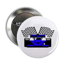 """ROYAL BLUE RACE CAR 2.25"""" Button (100 pack)"""
