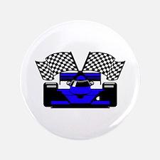 """ROYAL BLUE RACE CAR 3.5"""" Button (100 pack)"""