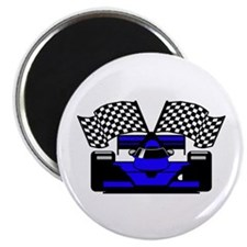 ROYAL BLUE RACE CAR Magnet