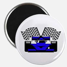 ROYAL BLUE RACE CAR Magnet