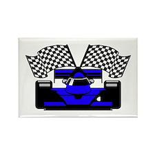 ROYAL BLUE RACE CAR Rectangle Magnet
