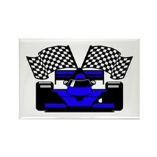 ROYAL BLUE RACE CAR Rectangle Magnet (100 pack)