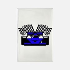ROYAL BLUE RACE CAR Rectangle Magnet