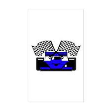 ROYAL BLUE RACE CAR Rectangle Decal