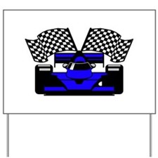 ROYAL BLUE RACE CAR Yard Sign