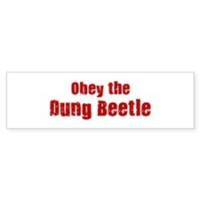 Obey the Dung Beetle Bumper Sticker (10 pk)
