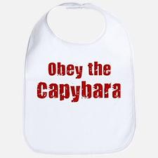 Obey the Capybara Bib
