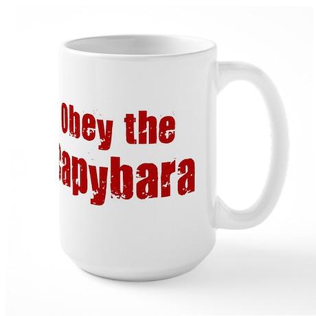 Obey the Capybara Large Mug
