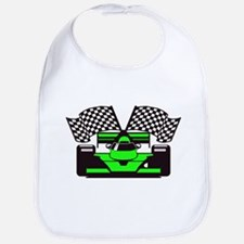 LIME GREEN RACE CAR Bib