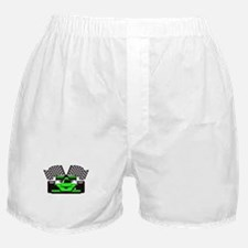 LIME GREEN RACE CAR Boxer Shorts