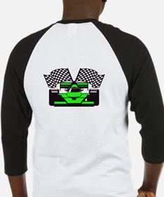 LIME GREEN RACE CAR Baseball Jersey