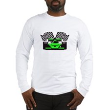 LIME GREEN RACE CAR Long Sleeve T-Shirt