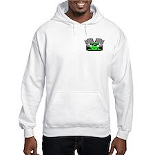 LIME GREEN RACE CAR Hoodie