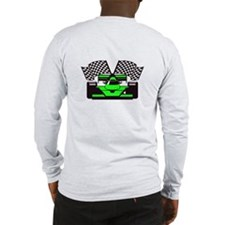 LIME GREEN RACE CAR Long Sleeve T-Shirt