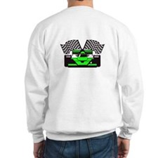 LIME GREEN RACE CAR Sweatshirt