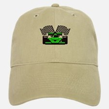 LIME GREEN RACE CAR Baseball Baseball Cap