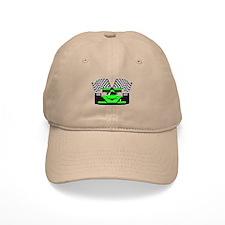 LIME GREEN RACE CAR Baseball Cap