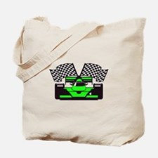 LIME GREEN RACE CAR Tote Bag