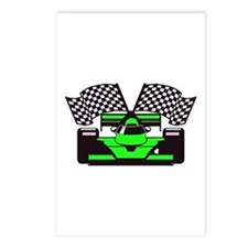 LIME GREEN RACE CAR Postcards (Package of 8)