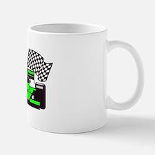 LIME GREEN RACE CAR Mug
