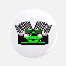 """LIME GREEN RACE CAR 3.5"""" Button (100 pack)"""