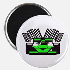 "LIME GREEN RACE CAR 2.25"" Magnet (100 pack)"