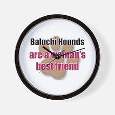 Baluchi Hounds woman's best friend Wall Clock