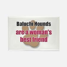 Baluchi Hounds woman's best friend Rectangle Magne