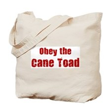 Obey the Cane Toad Tote Bag