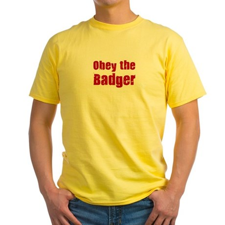 Obey the Badger Yellow T-Shirt