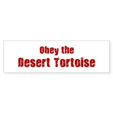 Obey the Desert Tortoise Bumper Bumper Sticker