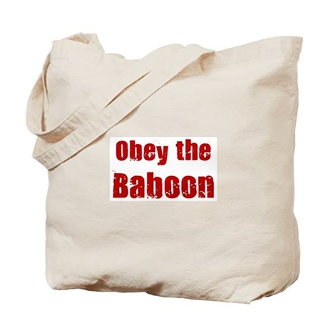 Obey the Baboon Tote Bag