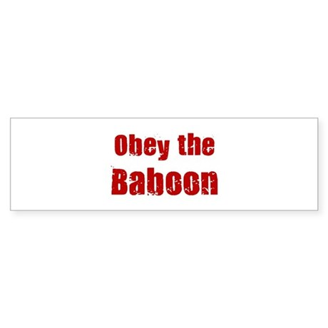 Obey the Baboon Bumper Sticker