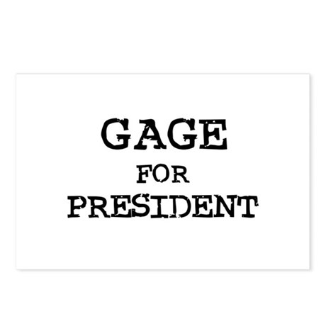 Gage for President Postcards (Package of 8)
