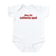 Obey the California Quail Infant Bodysuit