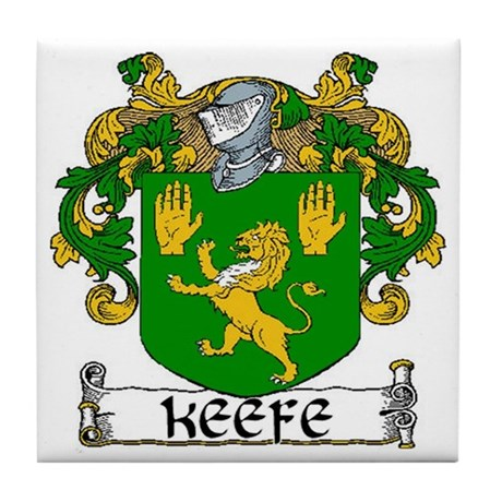 Keefe Coat of Arms Ceramic Tile