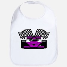 PURPLE RACE CAR Bib