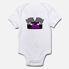 PURPLE RACE CAR Infant Bodysuit