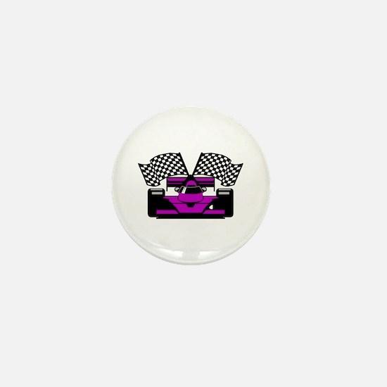 PURPLE RACE CAR Mini Button
