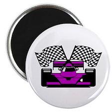 PURPLE RACE CAR Magnet
